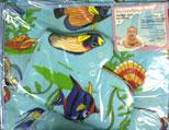 ДНК-75 Набор для купания вафелька (полотенце с капюшоном,рукавичка)