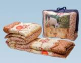 Одеяло шерсть овечья 172*205 (вес 2,2 кг) ткань полиэстер ОПШ-17,Ника