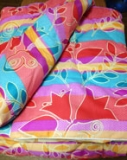 Одеяло Вата 140*205 (вес 1,8 кг) ткань полиэстер в пакете, Ника